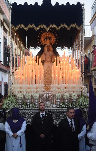 Miniatura de la Virgen de Valme para el palio de María Stma. del Dulce Nombre de Bellavista