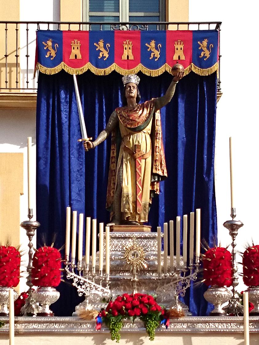 Comienzo de la restauración de la imagen del rey San Fernando