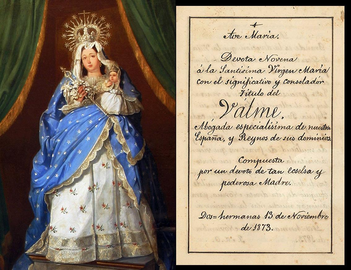 Hallada una Novena inédita de 1873 en honor de la Virgen de Valme