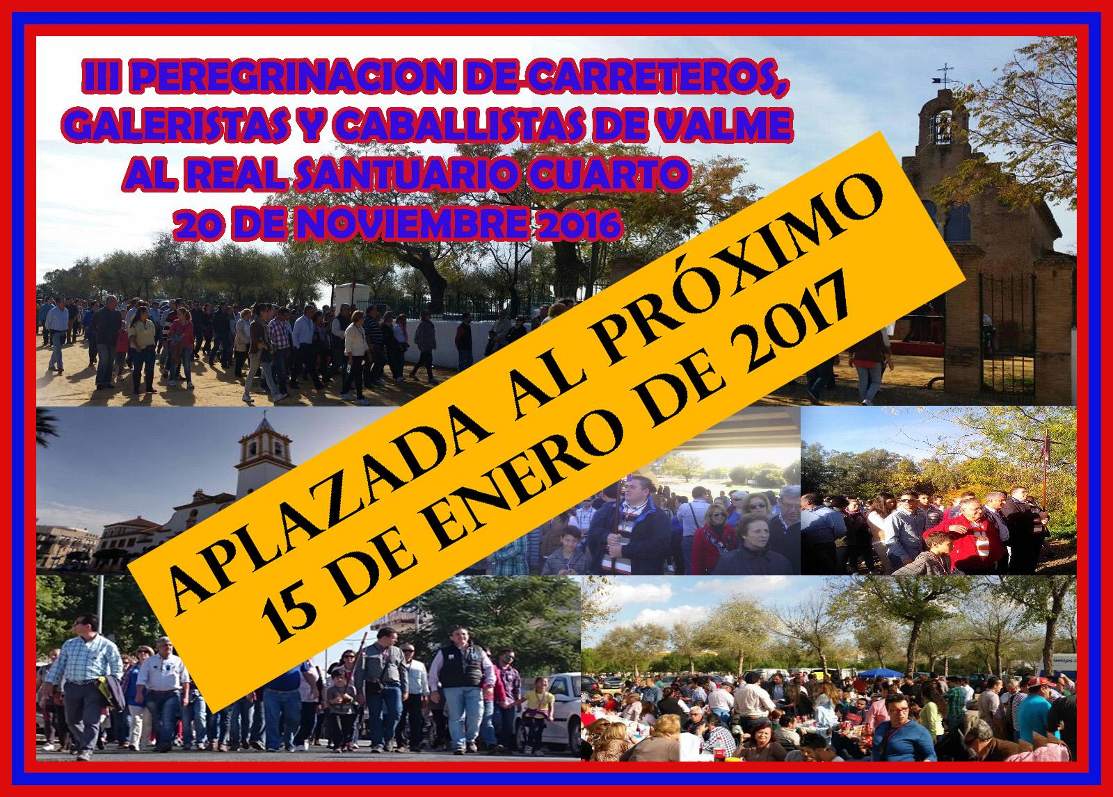 SUSPENDIDA LA III PEREGRINACIÓN DE CARRETEROS, GALERISTAS Y CABALLISTAS DE VALME