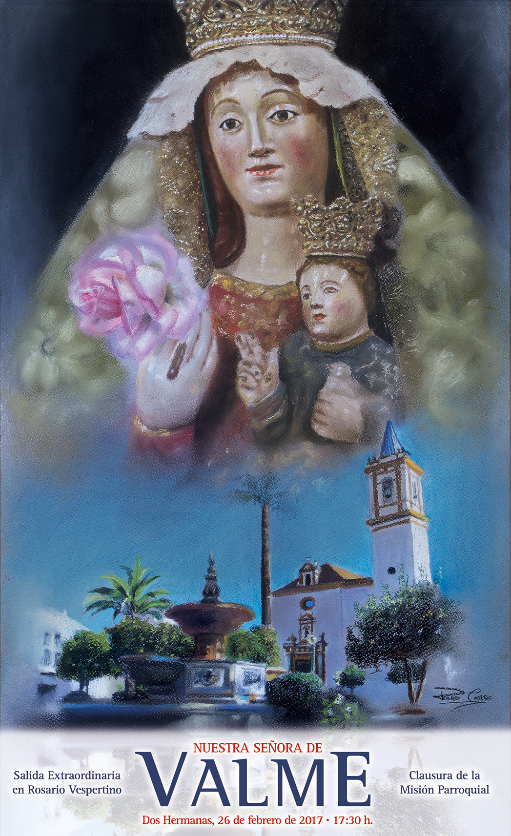 Editado el cartel anunciador de la próxima salida extraordinaria de la Virgen de Valme