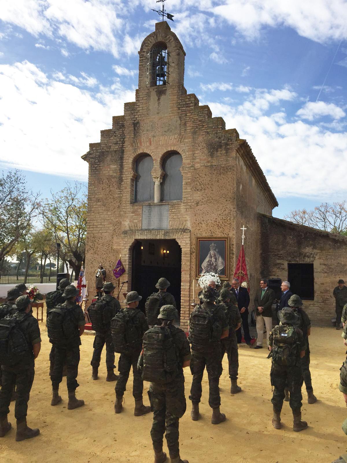 VISITA DE INGENIEROS MILITARES A LA ERMITA DE VALME CON MOTIVO DE LA MARCHA