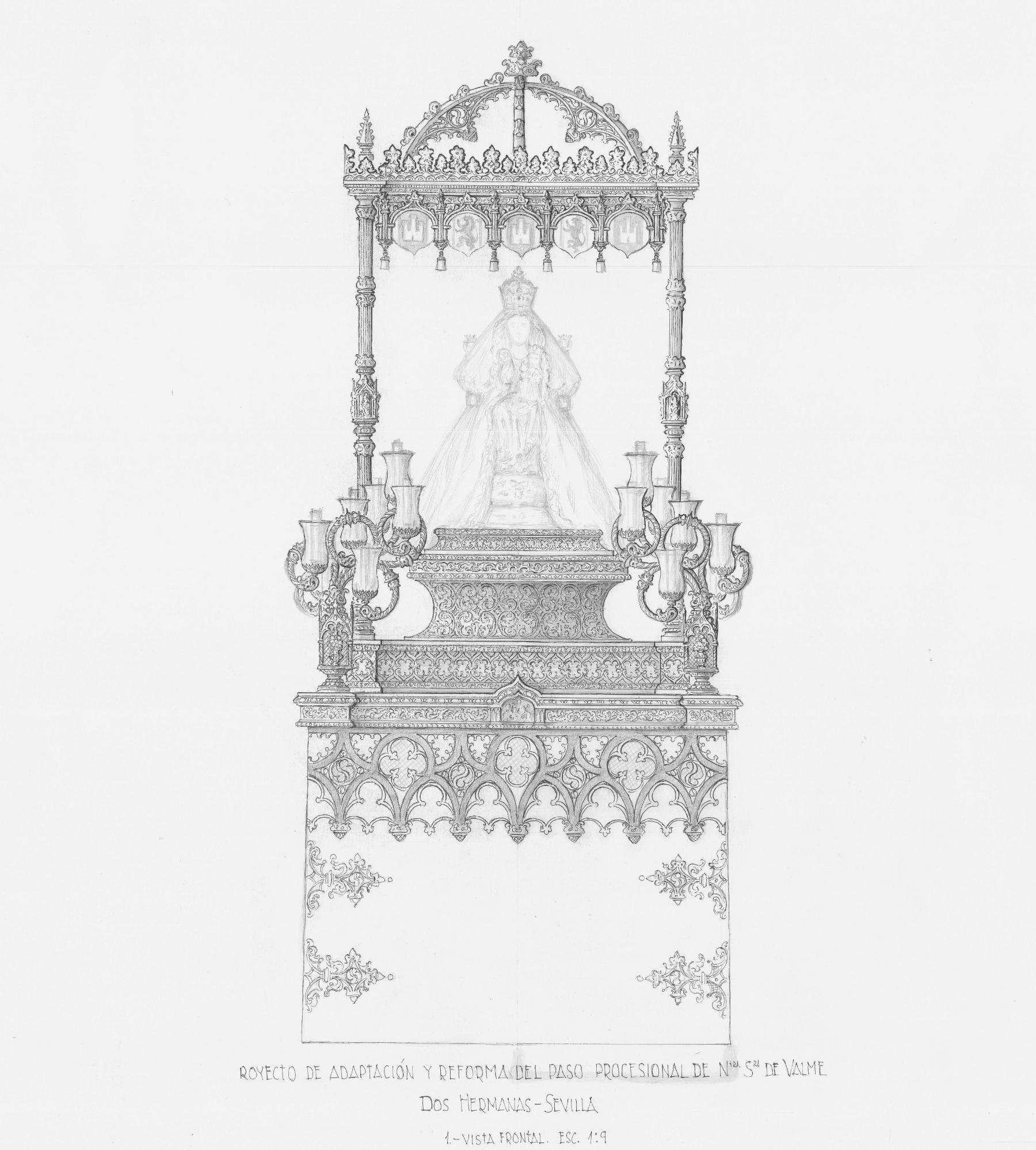 La Hermandad de Valme presenta el proyecto de reforma y adaptación del paso procesional de la Virgen, con vistas al 50º aniversario de la coronación canónica
